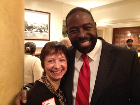 Gwen Lepard with Les Brown